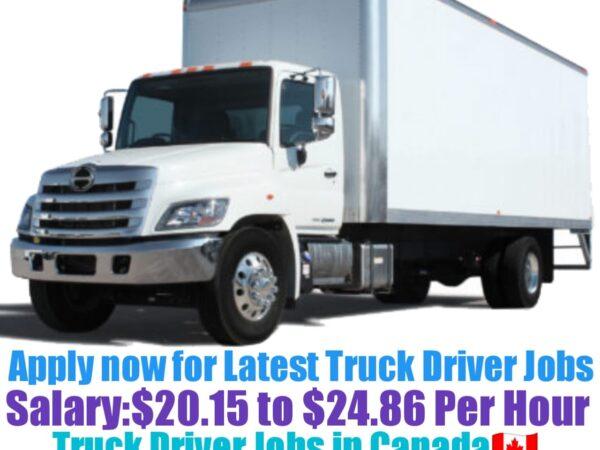 Sunbury Transport Ltd Truck Driver Recruitment 2021-22