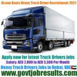 Ocean Boats Heavy Truck Driver Recruitment 2021-22