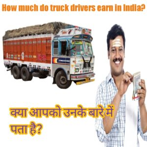 How much do truck drivers earn in India?