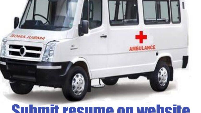 Ambulance Driver jobs in India 2021-22