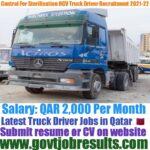 Control For Sterilization Heavy Truck Driver Recruitment 2021-22
