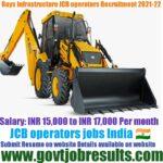 Rays Infrastructure JCB Operator Recruitment 2021-22