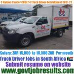 C Naidoo Carriers CODE 14 Truck Driver Recruitment 2021-22