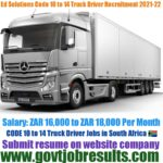 ED Solutions CODE 10 to 14 Truck Driver Recruitment 2021-22