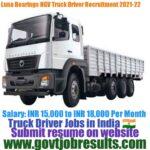 Luna Bearings Truck Driver Recruitment 2021-22