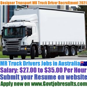 Designer Transport MR Truck Driver Recruitment 2021-22