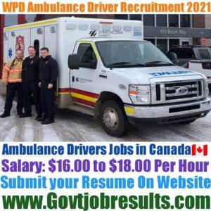 WPD Ambulance Driver Recruitment 2021-22