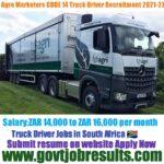 Agro Marketers CODE 14 Truck Driver Recruitment 2021-22