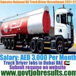 Emirates National Oil Truck Driver Recruitment 2021-22